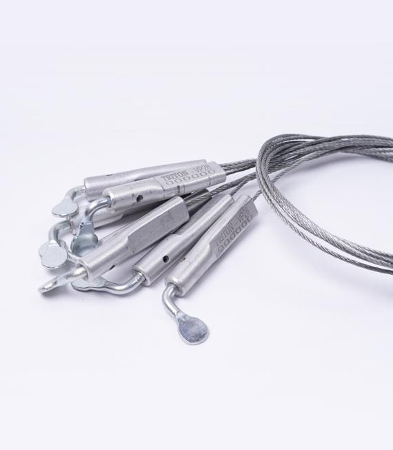 Sello cilindrico de aluminio tipo cable
