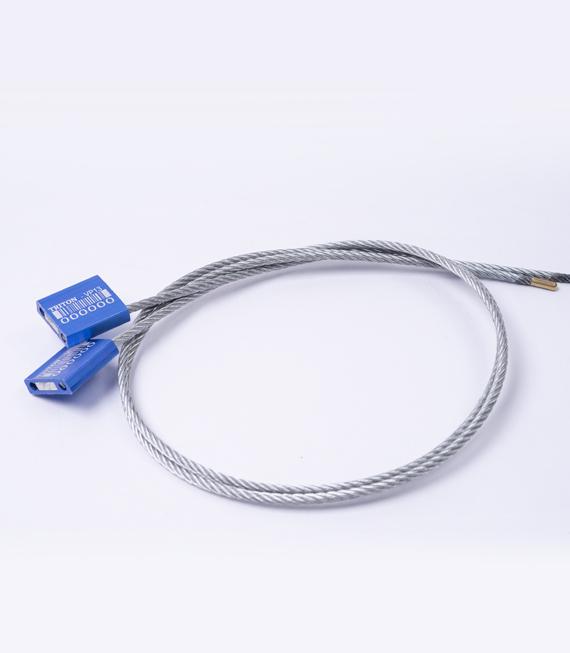 Sello tipo cable ajustable con punta encapsulada y cuerpo de aluminio