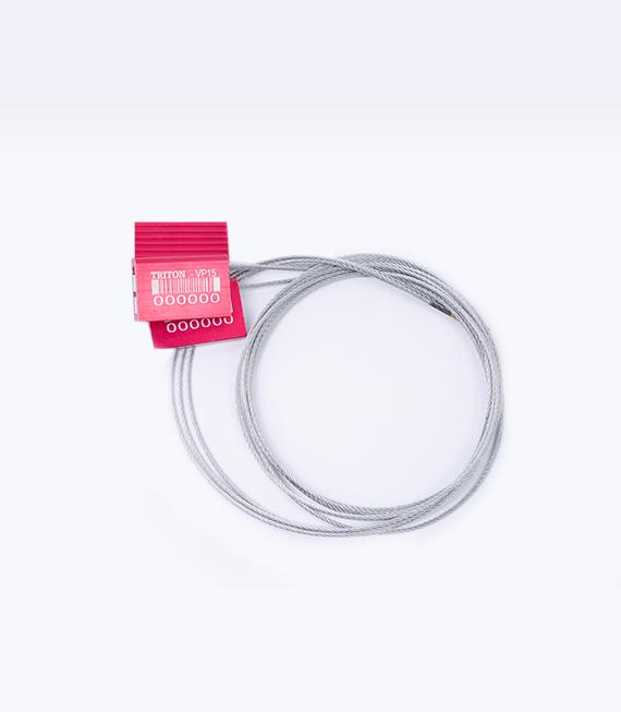 Sello tipo cable ajustable con punta encapsulada y cuerpo de aluminio TVP15